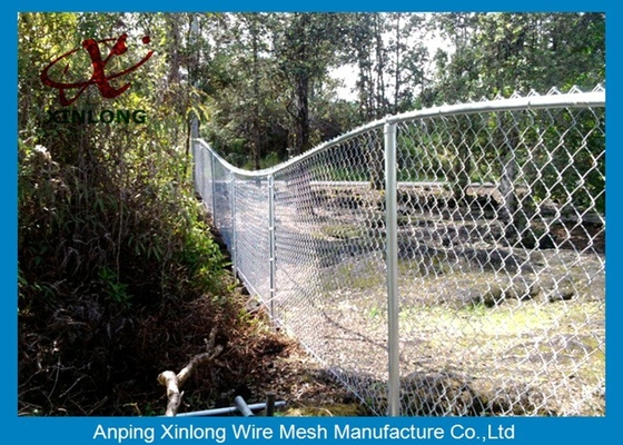 Cina Hot Dipped Galvanized Chain Link Anggar, Chain Link Wire Fence For Park pemasok