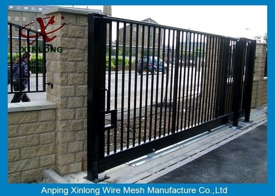 Cina Wrought Iron Automatic Security Gates Commercial For Living Quarter XLF-03 pemasok