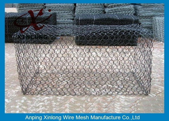 Cina Green Silver Welded Mesh Gabions Wire Cages For Rock Retaining Walls pemasok