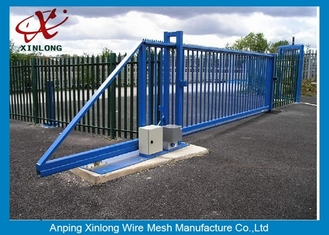 Cina Weather Proof Automatic Fence Gate , Sliding Metal Gates Corrosion Protection pemasok