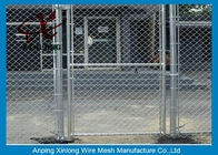 Diamond Hole Chain Link Mesh Pagar Galvanized Wire Mesh Untuk Olahraga Ground Barrier