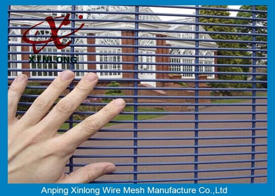 Cina Boundary Wall 358 High Security Fence Panels For Industry Zone XLF-06 pabrik