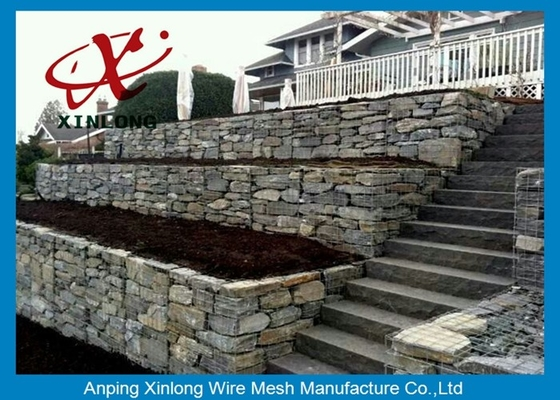 Cage Rock Gabion Wire Mesh, Containment Pvc Coated Gabion Baskets